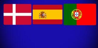 Dinamarca, Espanha, Portugal